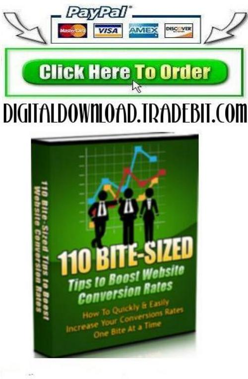 Product picture 100 Bite Size Conversion Tips To Boost Web Conversion Rate