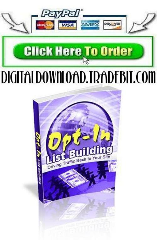 Product picture Opt In List Building