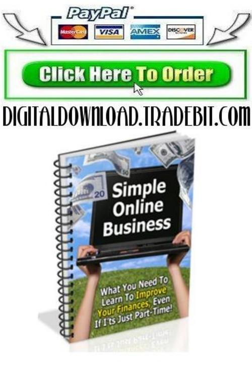 Product picture Simple Online Business