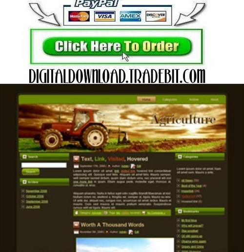 Product picture Agriculture Tractor Template